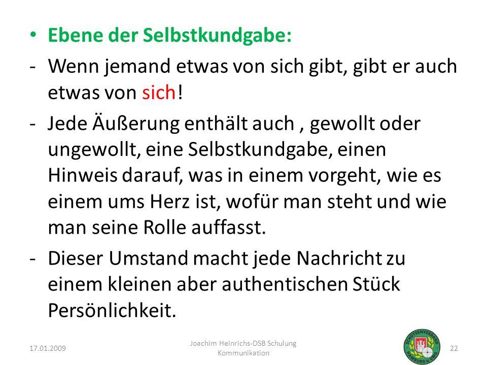 Joachim Heinrichs-DSB Schulung Kommunikation