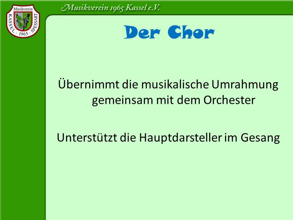 Der Chor Übernimmt die musikalische Umrahmung gemeinsam mit dem Orchester.