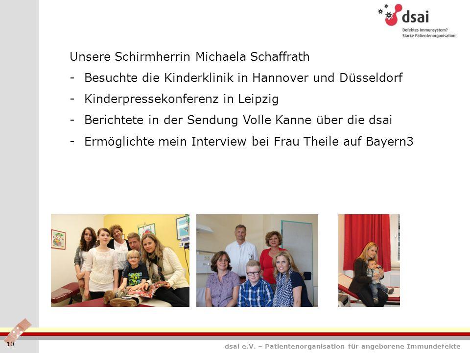 Unsere Schirmherrin Michaela Schaffrath