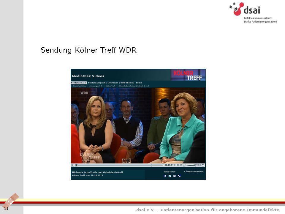 Sendung Kölner Treff WDR