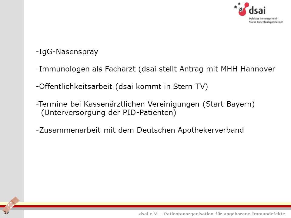 -Immunologen als Facharzt (dsai stellt Antrag mit MHH Hannover