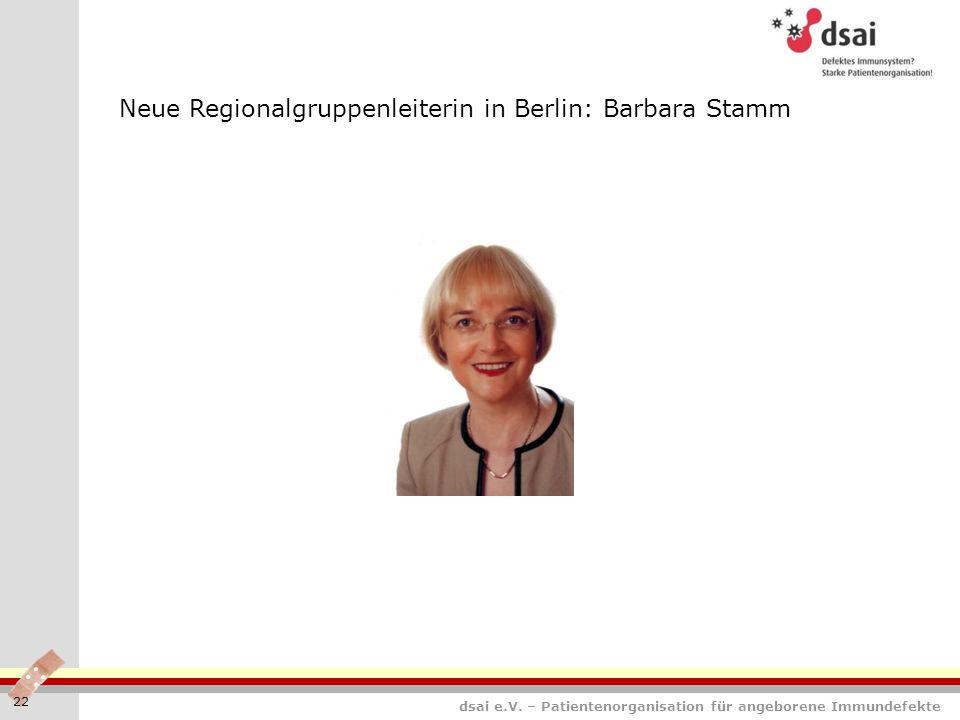 Neue Regionalgruppenleiterin in Berlin: Barbara Stamm
