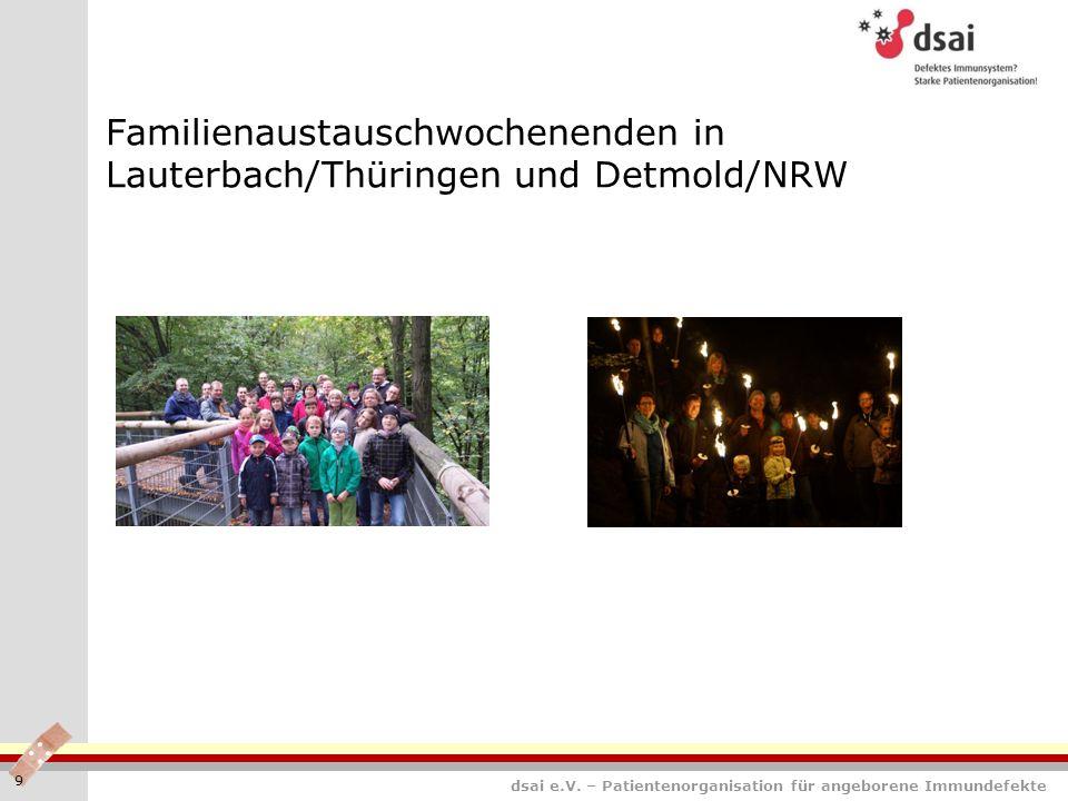 Familienaustauschwochenenden in Lauterbach/Thüringen und Detmold/NRW