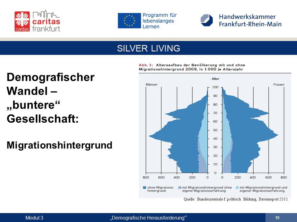 """Demografischer Wandel – """"buntere Gesellschaft: Migrationshintergrund"""