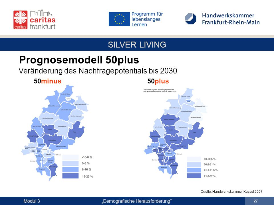 Prognosemodell 50plus Veränderung des Nachfragepotentials bis 2030