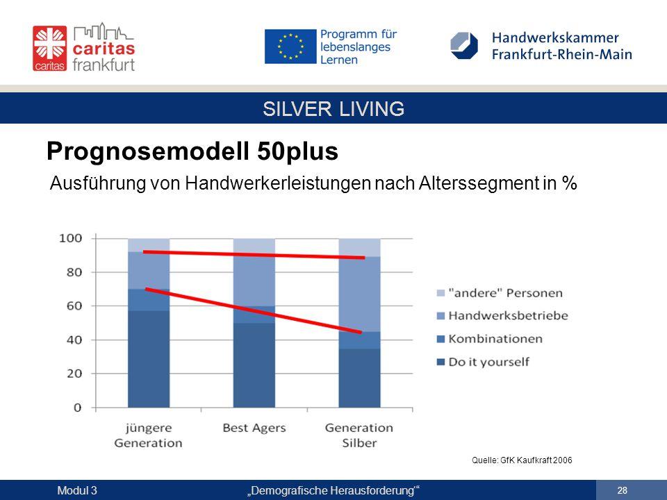 Prognosemodell 50plus Ausführung von Handwerkerleistungen nach Alterssegment in % Quelle: GfK Kaufkraft 2006.