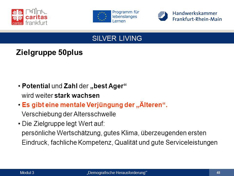 """Zielgruppe 50plus Potential und Zahl der """"best Ager"""