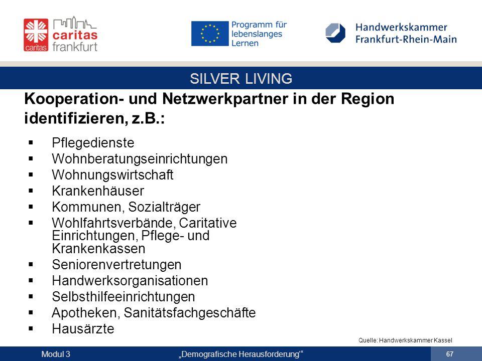 Kooperation- und Netzwerkpartner in der Region identifizieren, z.B.: