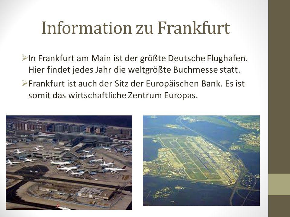 Information zu Frankfurt