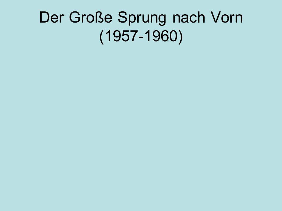 Der Große Sprung nach Vorn (1957-1960)