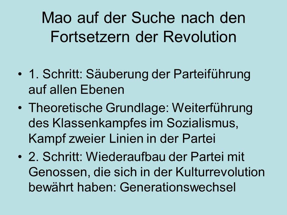 Mao auf der Suche nach den Fortsetzern der Revolution