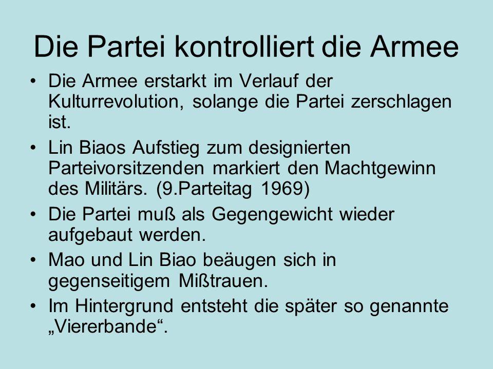 Die Partei kontrolliert die Armee