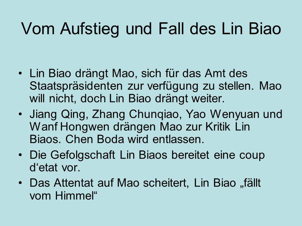 Vom Aufstieg und Fall des Lin Biao