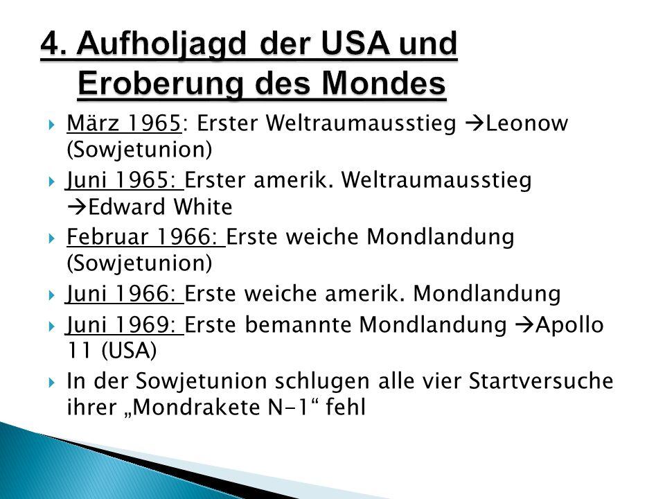 4. Aufholjagd der USA und Eroberung des Mondes