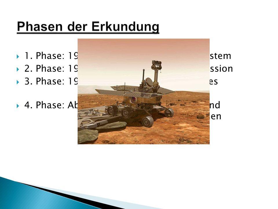 Phasen der Erkundung 1. Phase: 1959-1967: Inneres Planetensystem