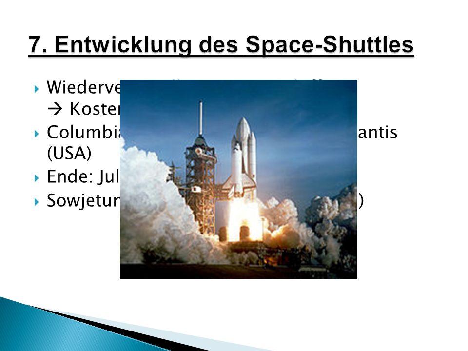 7. Entwicklung des Space-Shuttles