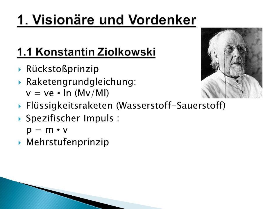 1. Visionäre und Vordenker 1.1 Konstantin Ziolkowski