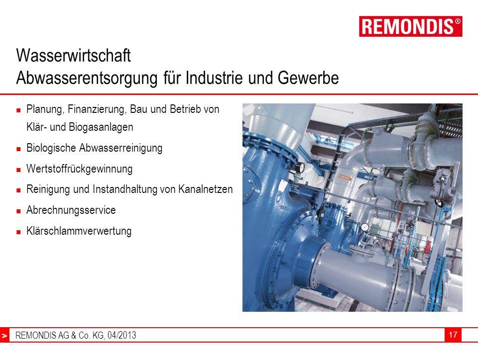Wasserwirtschaft Abwasserentsorgung für Industrie und Gewerbe