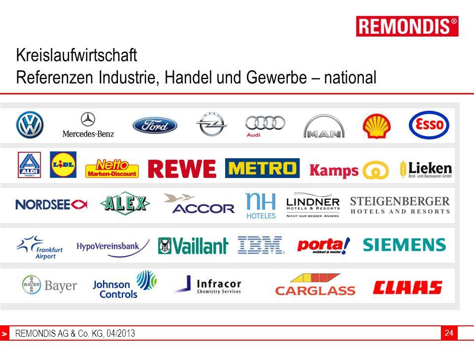 Kreislaufwirtschaft Referenzen Industrie, Handel und Gewerbe – national