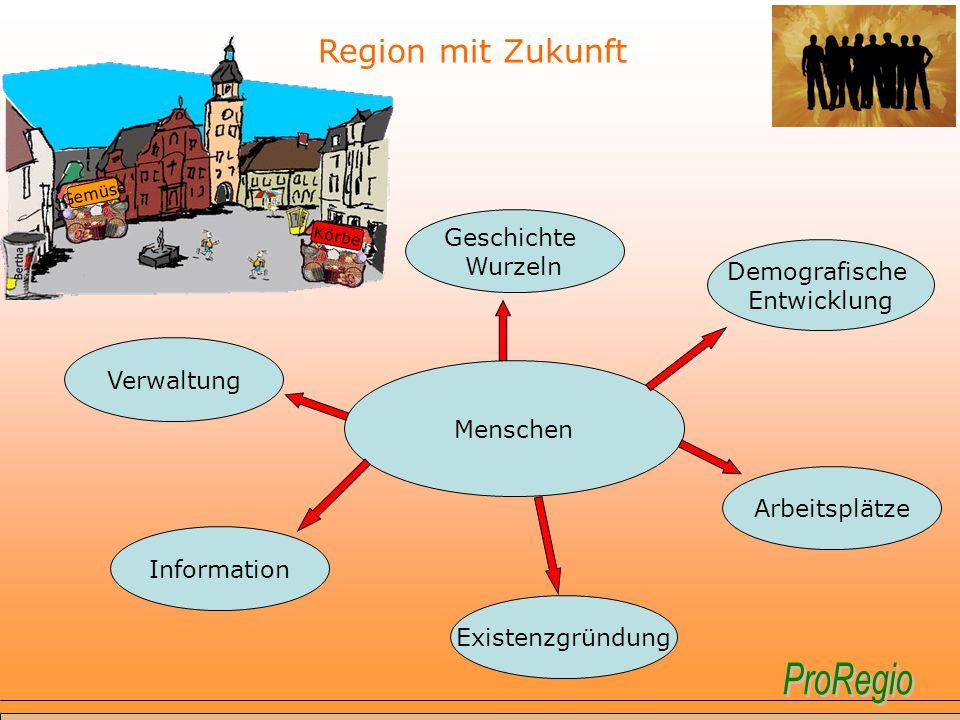 Region mit Zukunft Geschichte Wurzeln Demografische Entwicklung