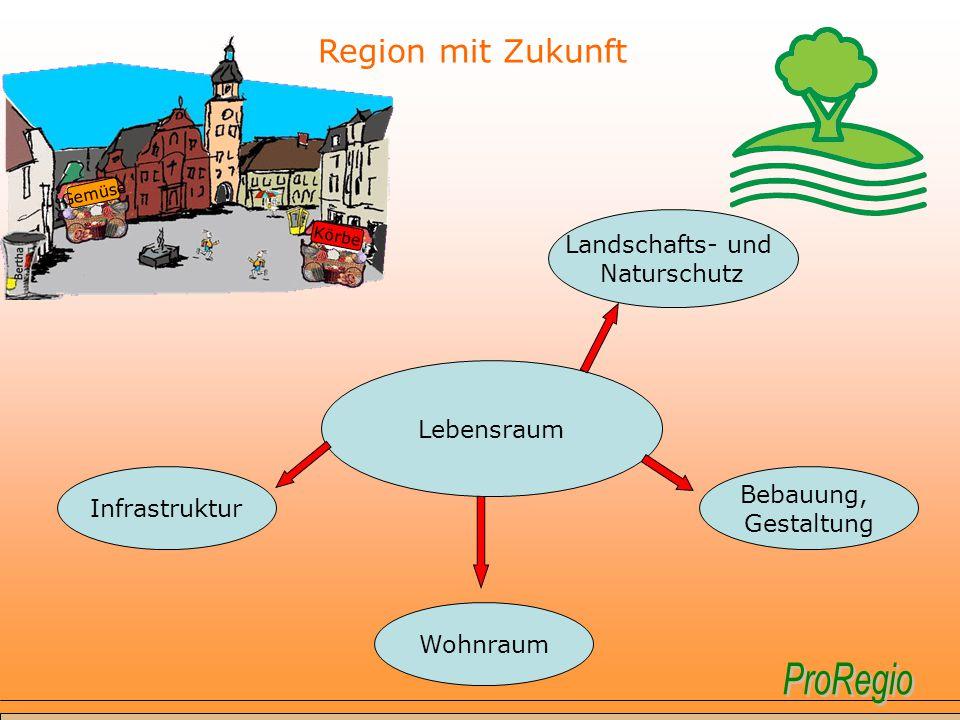 Region mit Zukunft Landschafts- und Naturschutz Lebensraum Bebauung,