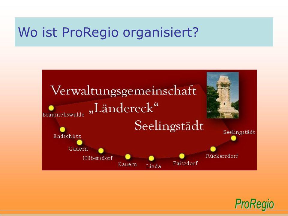 Wo ist ProRegio organisiert