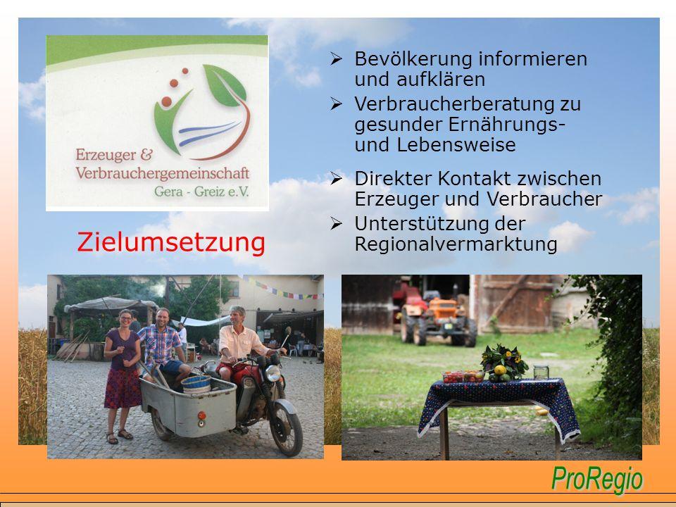 Zielumsetzung Bevölkerung informieren und aufklären