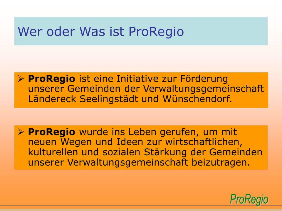 Wer oder Was ist ProRegio