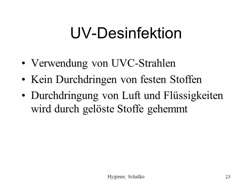 UV-Desinfektion Verwendung von UVC-Strahlen