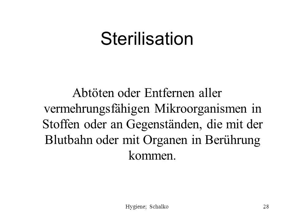 Sterilisation
