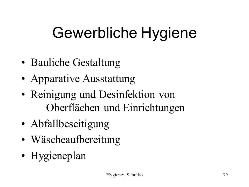 Gewerbliche Hygiene Bauliche Gestaltung Apparative Ausstattung