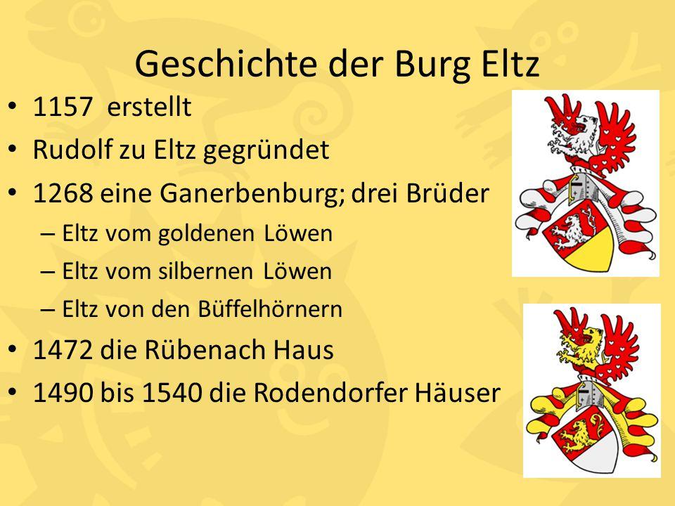 Geschichte der Burg Eltz