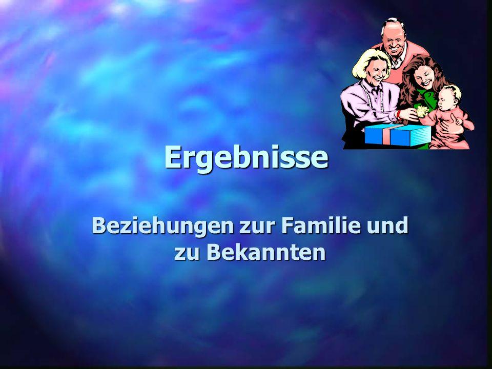 Beziehungen zur Familie und zu Bekannten