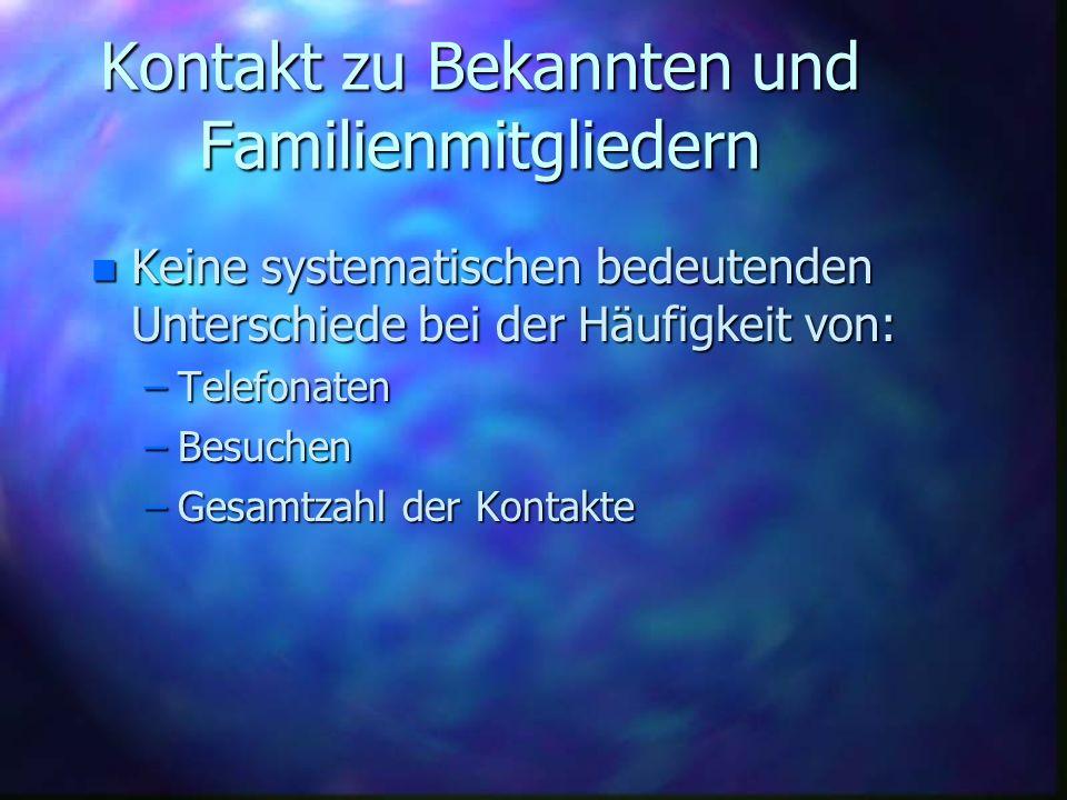 Kontakt zu Bekannten und Familienmitgliedern
