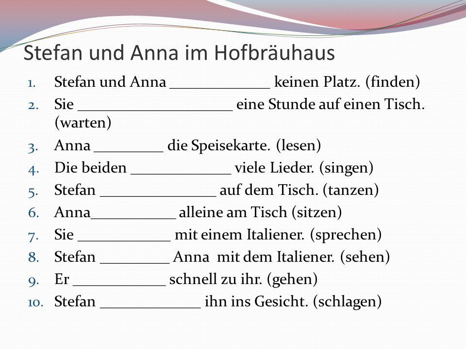 Stefan und Anna im Hofbräuhaus
