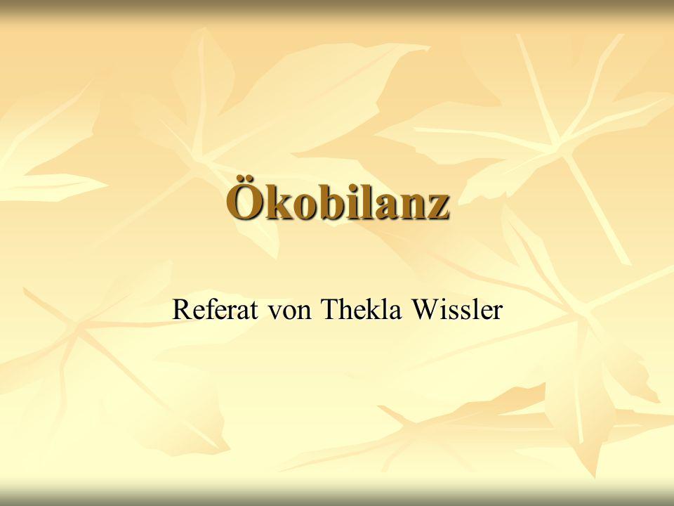 Referat von Thekla Wissler