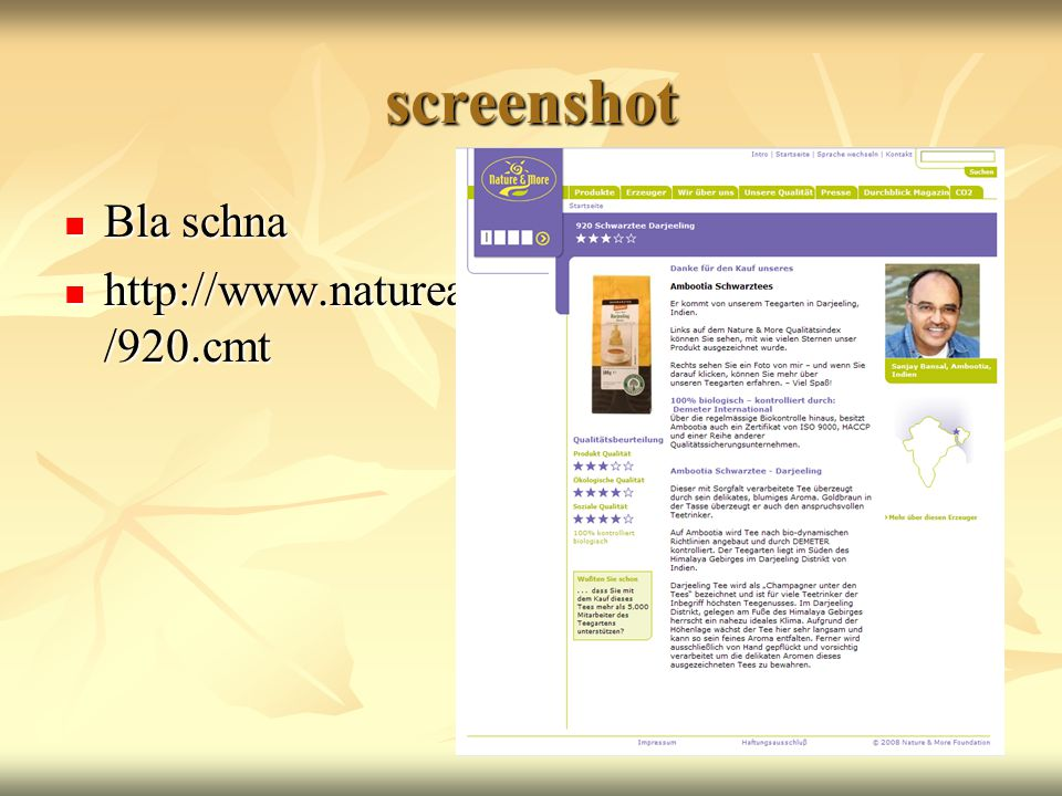screenshot Bla schna http://www.natureandmore.com/german/Codes/920.cmt