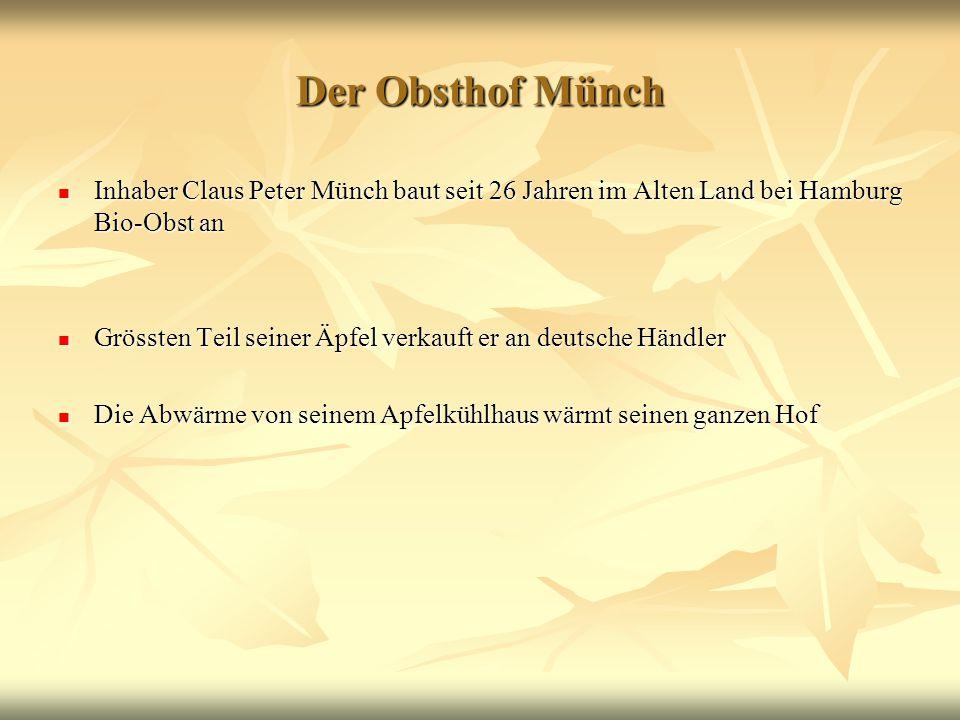 Der Obsthof Münch Inhaber Claus Peter Münch baut seit 26 Jahren im Alten Land bei Hamburg Bio-Obst an.