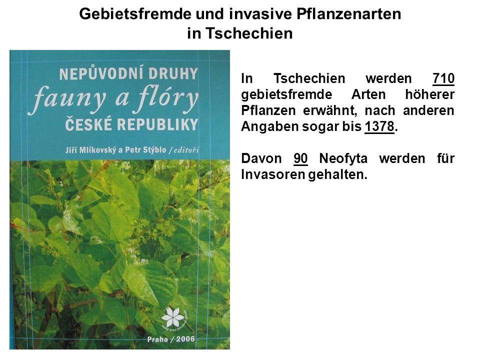Gebietsfremde und invasive Pflanzenarten in Tschechien