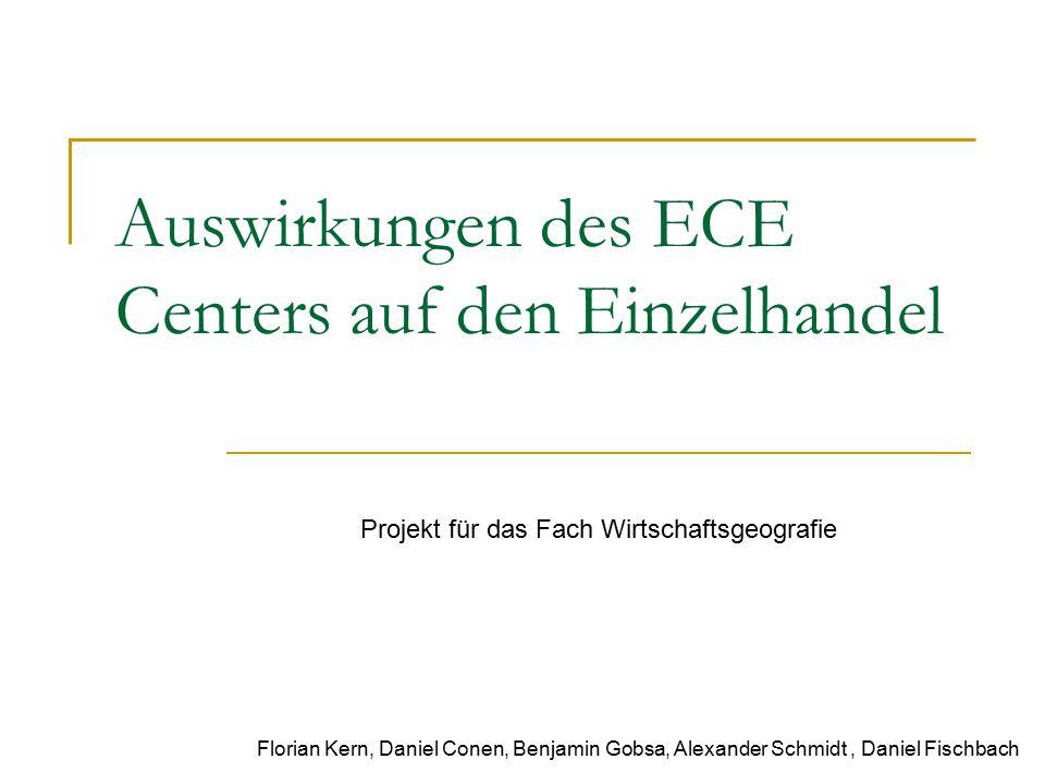 Auswirkungen des ECE Centers auf den Einzelhandel