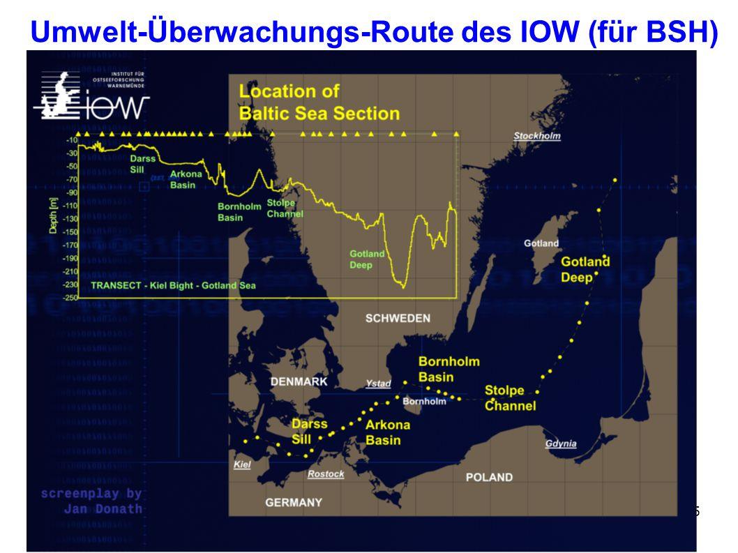 Umwelt-Überwachungs-Route des IOW (für BSH)