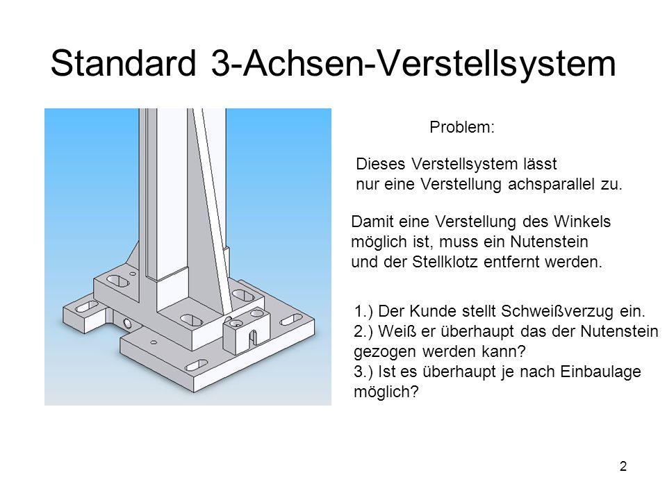 Standard 3-Achsen-Verstellsystem