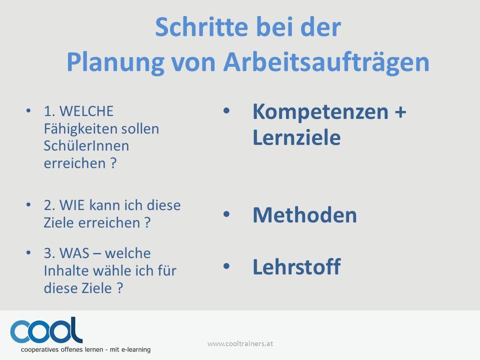 Schritte bei der Planung von Arbeitsaufträgen