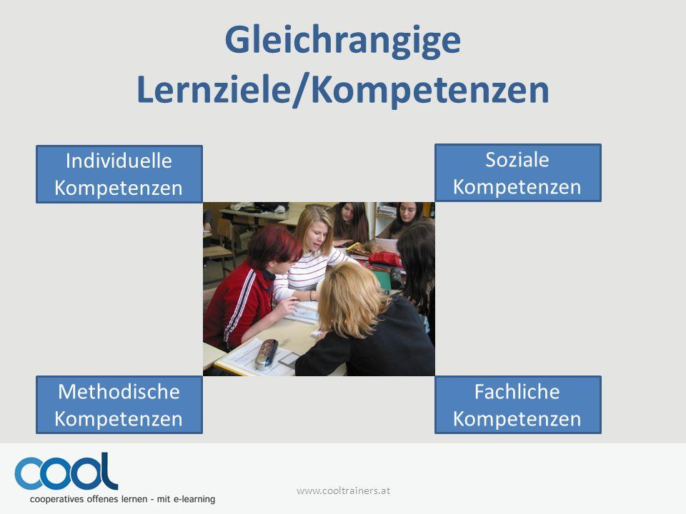 Gleichrangige Lernziele/Kompetenzen