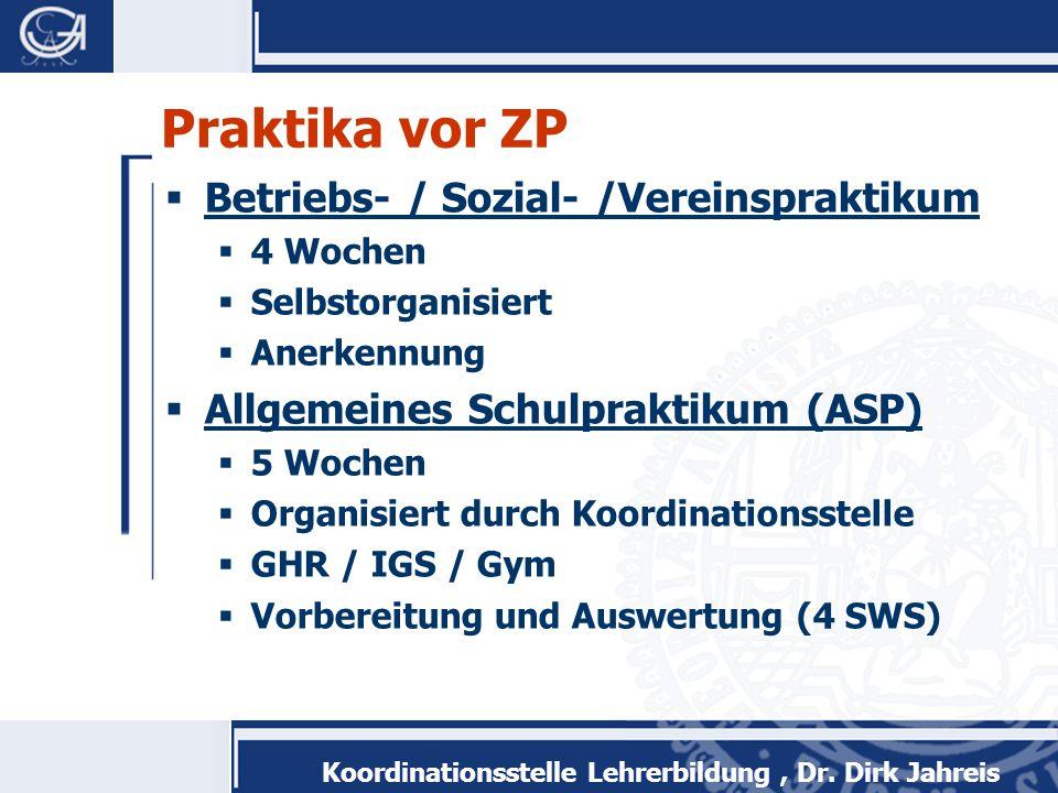 Praktika vor ZP Betriebs- / Sozial- /Vereinspraktikum