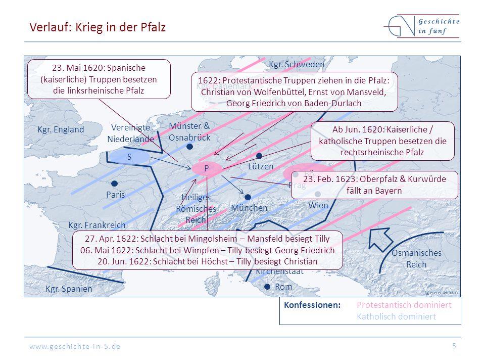 Verlauf: Krieg in der Pfalz