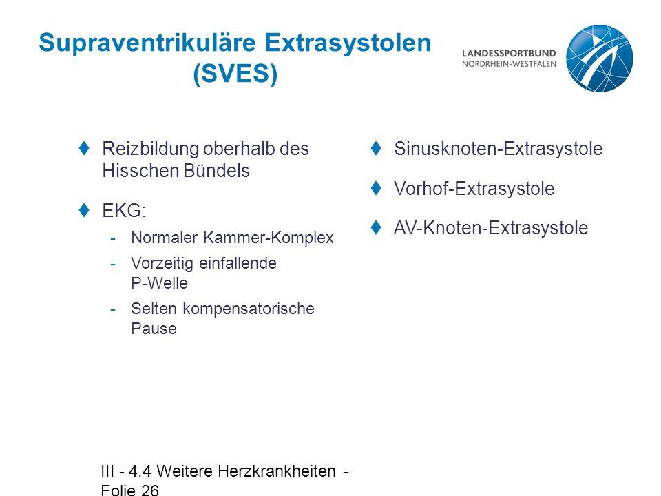 Supraventrikuläre Extrasystolen (SVES)