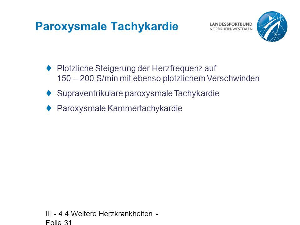 Paroxysmale Tachykardie