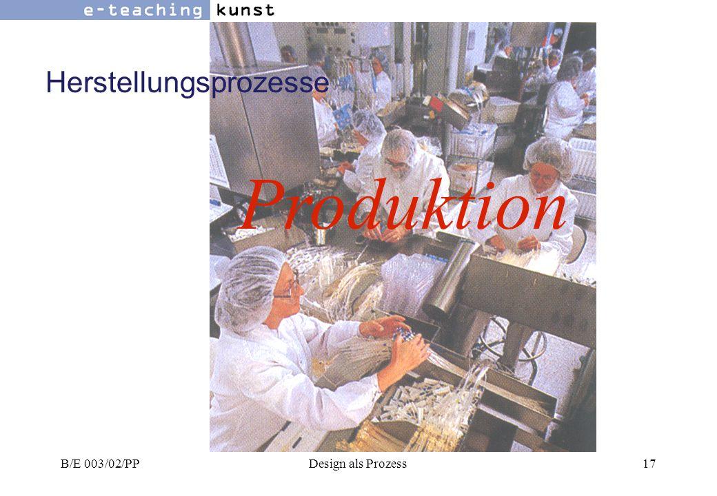 Herstellungsprozesse