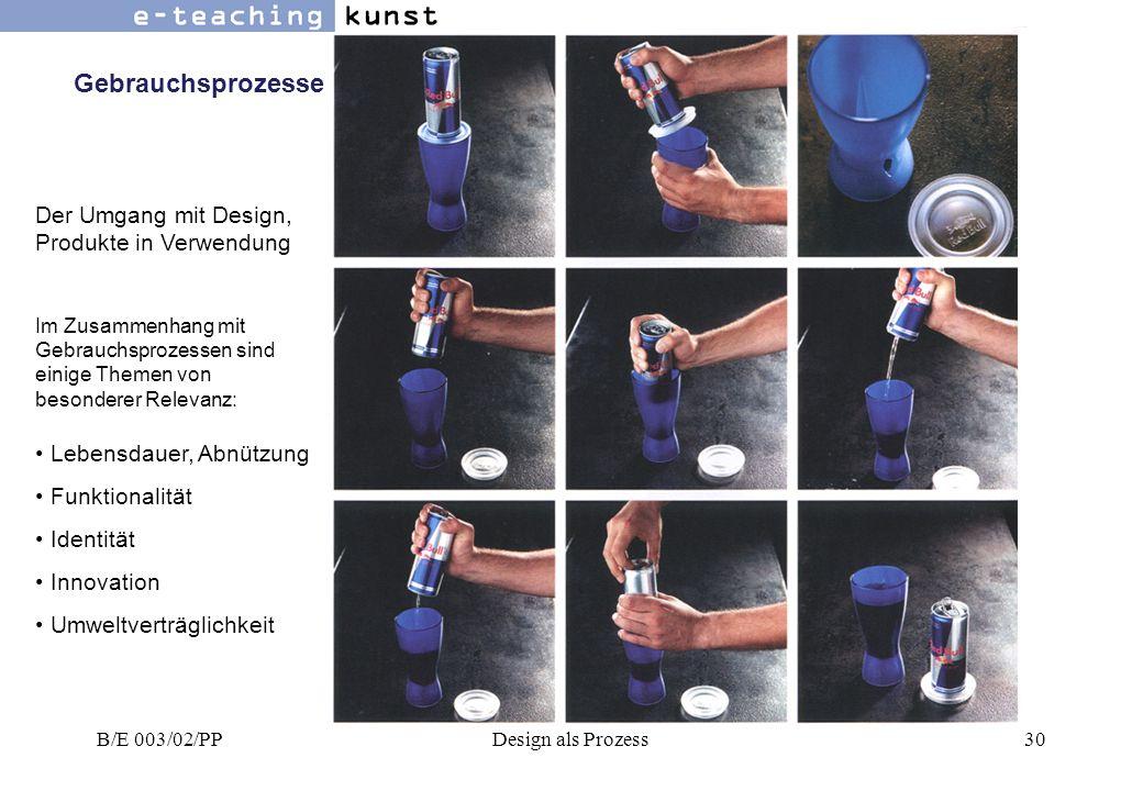 Gebrauchsprozesse Der Umgang mit Design, Produkte in Verwendung